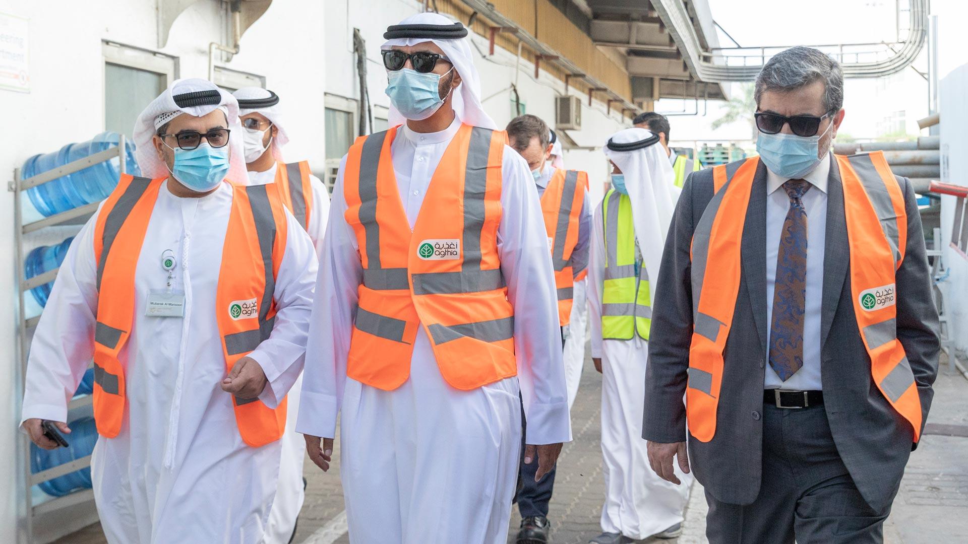H.E. Saeed Al Bahri Salem Al Ameri Visits Agthia's Grand Mills Factory
